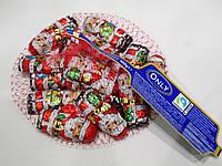 Шоколадные новогодние конфеты Only Дед Мороз в сеточке 100г