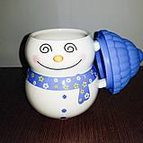 Кружка снеговик с силиконовой крышкой, фото 2