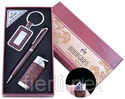 Подарочный набор брелок,ручка,зажигалка (Острое пламя) №AL-010