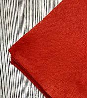 Фетр полиэстер Красный 21x29,7см 1мм Китай