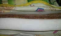 Матрас в детскую кроватку (кокос-поролон 4см) ткань чехла х/б