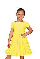 Рейтинговое платье для девочек танцевальное жолтое