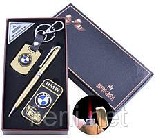 Подарочный набор брелок/ручка/зажигалка BMW (Турбо пламя) №ST-5642B