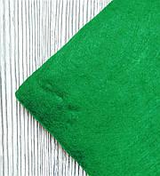 Фетр полиэстер Зеленый 21x29,7см 1мм Китай