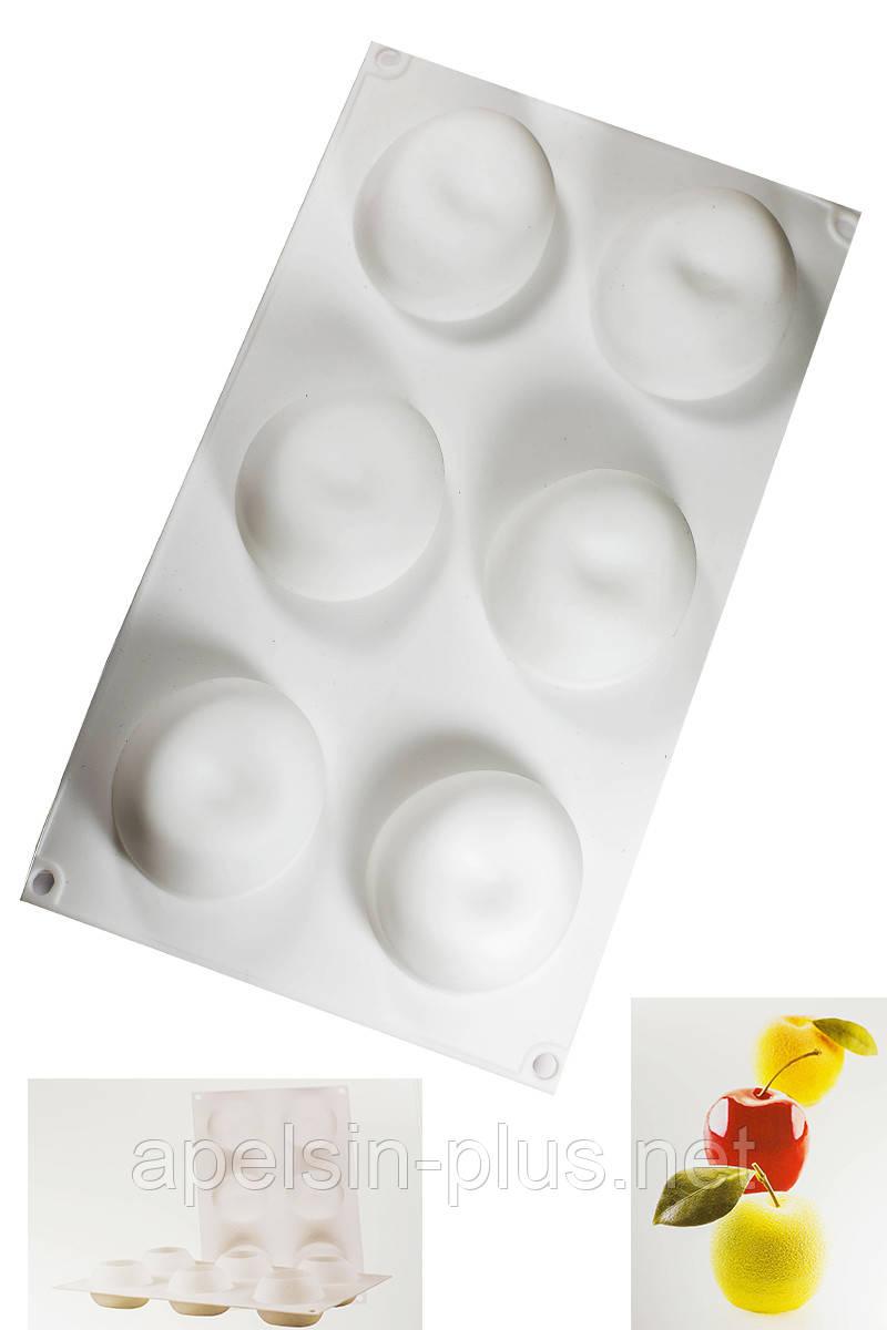 Силиконовая форма для евро десертов Apple (яблоко) на 8 ячеек