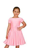 Рейтинговое платье для девочек танцевальное розовое