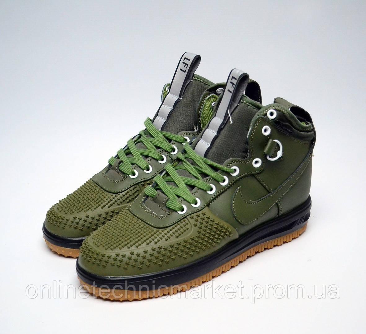 e1e37e92 Мужская Обувь Nike Air Lunar Force Duckboot KHAKI Кроссовки Повседневные  Водоотталкивающие Зимние - Интернет-магазин