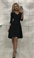 Стильное легкое платье. Артикул: 345_black