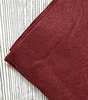 Фетр полиэстер Бордовый 21x29,7см 1мм Китай