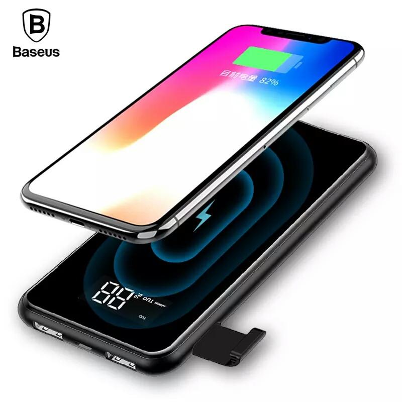Power Bank Baseus Full Screen Bracket 8000 mAh Внешний беспроводной аккумулятор черный