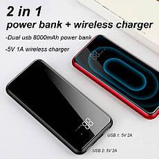 Power Bank Baseus Full Screen Bracket 8000 mAh Внешний беспроводной аккумулятор черный, фото 3