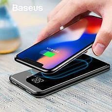 Power Bank Baseus Full Screen Bracket 8000 mAh Внешний беспроводной аккумулятор черный, фото 2