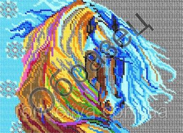Схема для вишивки бісером «Кінь»