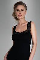 Женская бельевая майка черного цвета с кружевом, модель Arietta Eldar.