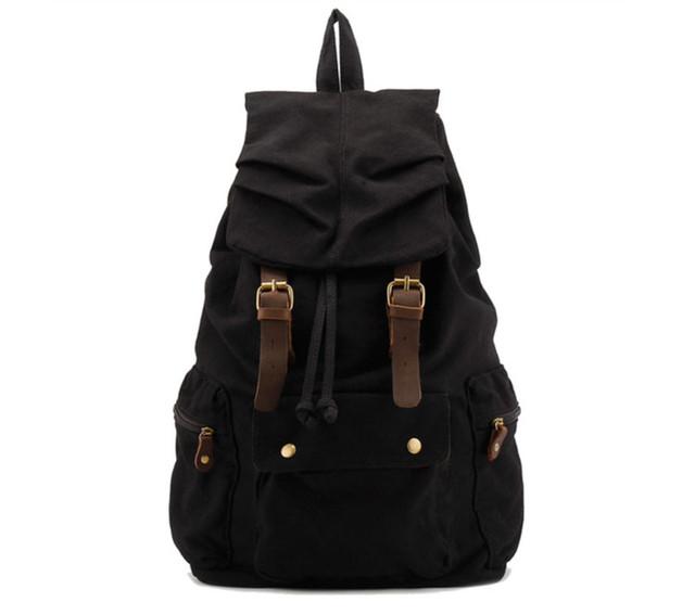 Черный городской рюкзак вид спереди