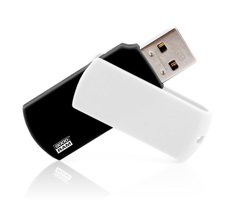 Флешки Colour черно-белые под нанесение логотипа на 8, 16, 32 Гб лазерная гравировка , фото 1