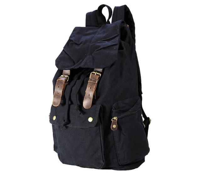 Городской рюкзак черный вид сбоку