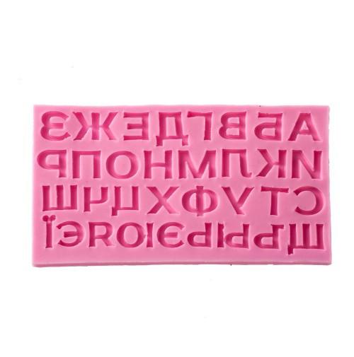 """Молд силиконовый""""Алфавит большие"""" Галетте -06608"""