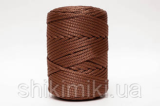 Трикотажный полипропиленовый шнур PP Cord 5 mm, цвет Бронзовый