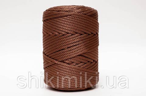 Трикотажный полиэфирный шнур PP Cord 5 mm,цвет коричневый