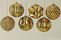 Подвесной шар золотое стекло d10см 1007030