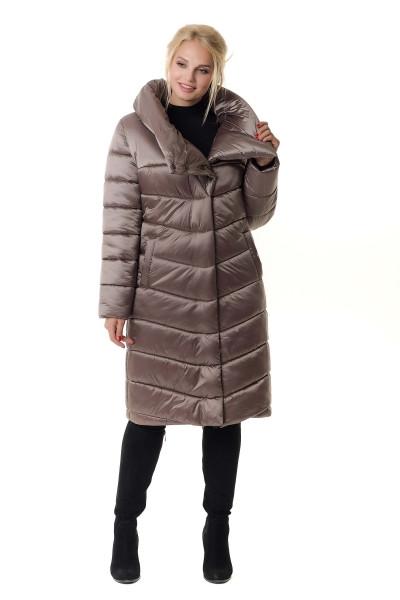 Зимние женские куртки удлиненная молодежная  46-56 бежевый