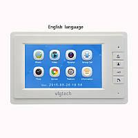 Домофон Intercom WJ724RC9 Цветной Видеозвонок с картой памяти