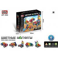 """Магнитный конструктор """"Цветные магниты"""" 16 деталей Play Smart 2426"""