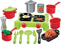 Плита и посуда 21 аксессуар Ecoiffier 2649, фото 1