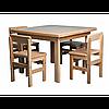 Детский стол и стул (бук)