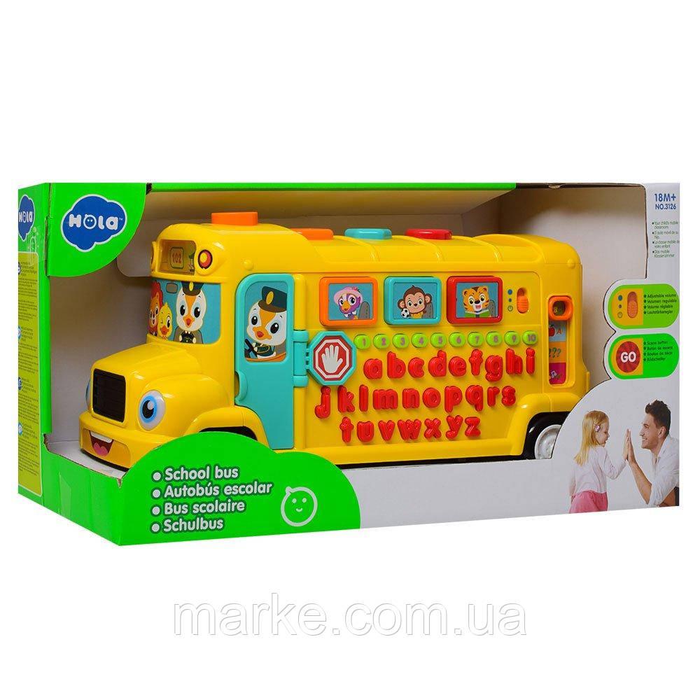 Развивающая игрушка Hola Toys Школьный автобус, англ. (3126)