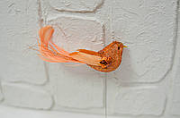 Птица оранжевая новогодняя, фото 1