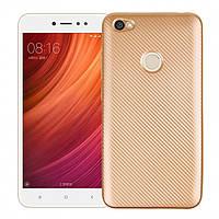 Чехол Fashion TPU Carbon для Xiaomi Redmi Note 5A Prime Gold (PC-001887)