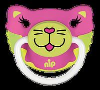 Силиконовая пустышка Nip Веселые животные №2 5-18 мес. Кошечка и Мишка бирюзовый, 2шт. (31500)