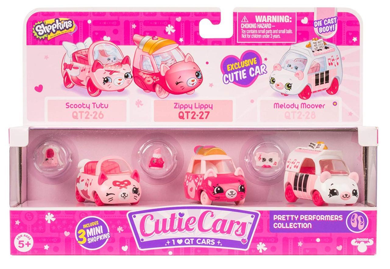 Набор 3 машинки шопкинс, Shopkins Cutie Cars, Pretty Performers Collection, оригинал из США
