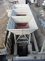 Карманный бункер инертных материалов