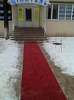 Красная дорожка для посетителей клиники 1