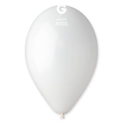 Повітряні кулі білі пастель 100 шт Gemar Італія 21 см