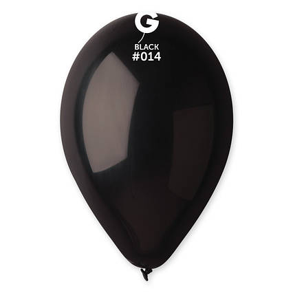 Повітряні кулі чорні пастель 100 шт Gemar Італія 21 см