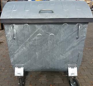 Оцинкованный мусорный бак 1,1 м3.