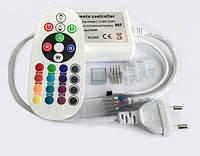 Контроллер для светодиодного неона Biom 220В RGB IP68 700W с ИК пультом