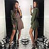 Платье красивое нарядное на запах шелк Армани разные цвета Smld2827