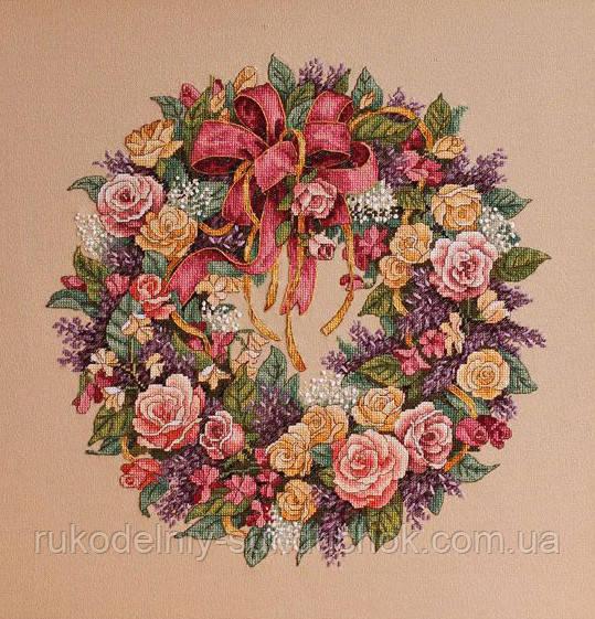 Набор для вышивания DIMENSIONS «Wreath of Roses • Венок из роз» 03837