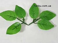 Искусственные листья розы, на 1 розетке 6 листочков-(благородные).