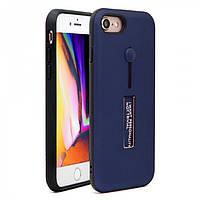 Чехол с подставкой и кольцом Fashion Hard Case для Apple iPhone 6 Blue (PC-001324)