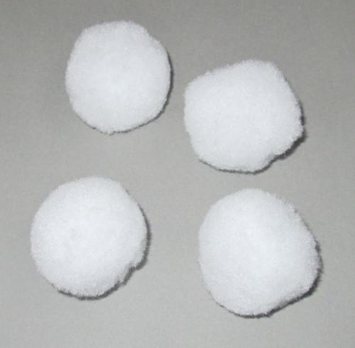 Помпон бархатный 3,5 см, белый