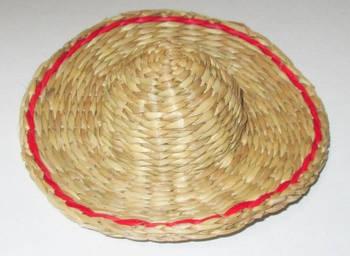 Шляпка декоративная плетенная 12 см