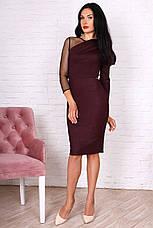 Лаконичное женское платье с блестящим напылением, фото 3