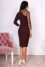 Лаконичное женское платье с блестящим напылением, фото 2