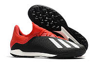 Футбольные сороконожки adidas X Tango 18.3 TF Core Black/White/Solar Red, фото 1